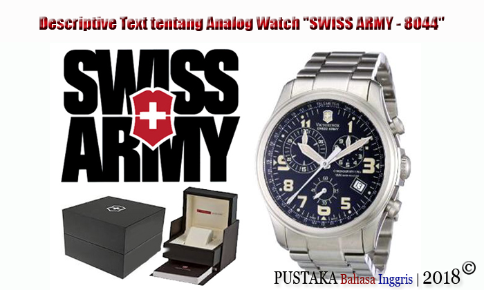 "Descriptive Text tentang Analog Watch ""SWISS ARMY - 8044"""