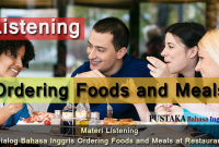 [Listening Skill] 4 Materi Listening Dialog Bahasa Inggris tentang Ordering Foods and Meals di Restoran - Go to Restaurant